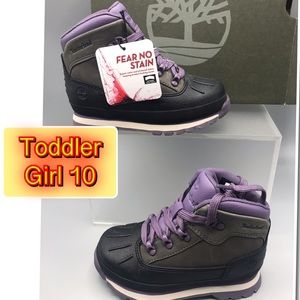 Timberland For Little Girls Black/purple New 10